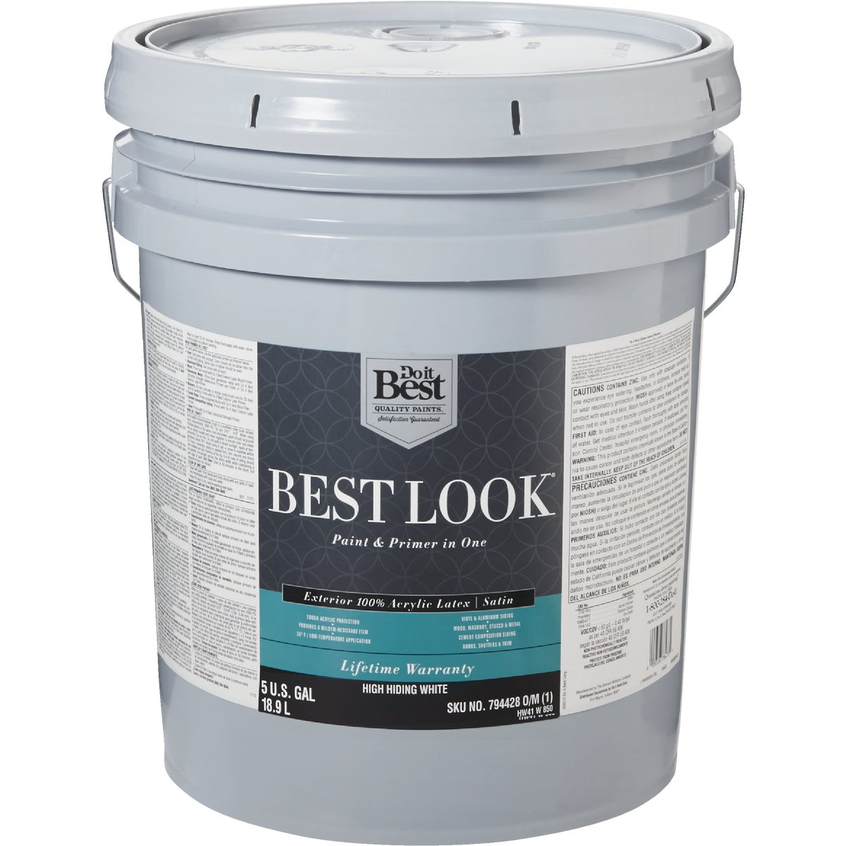 Best Look 100 Acrylic Latex Paint Primer In One Satin Exterior House Paint Hw41w0850 20