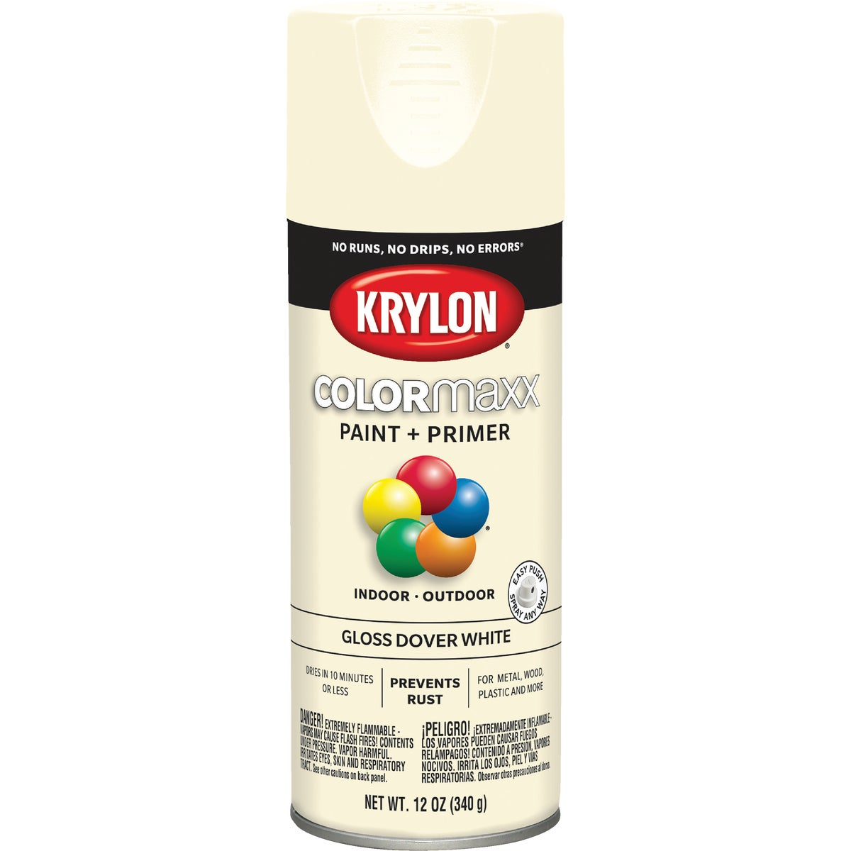 GLS DOVR WHT SPRAY PAINT - 53555 by Krylon/consumer Div