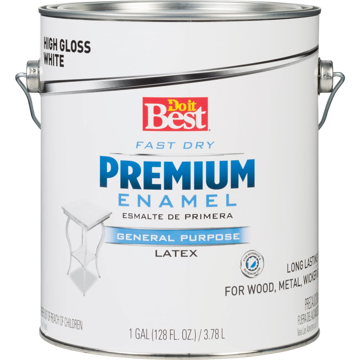 WHITE LATEX ENAMEL - 2301 by Rustoleum