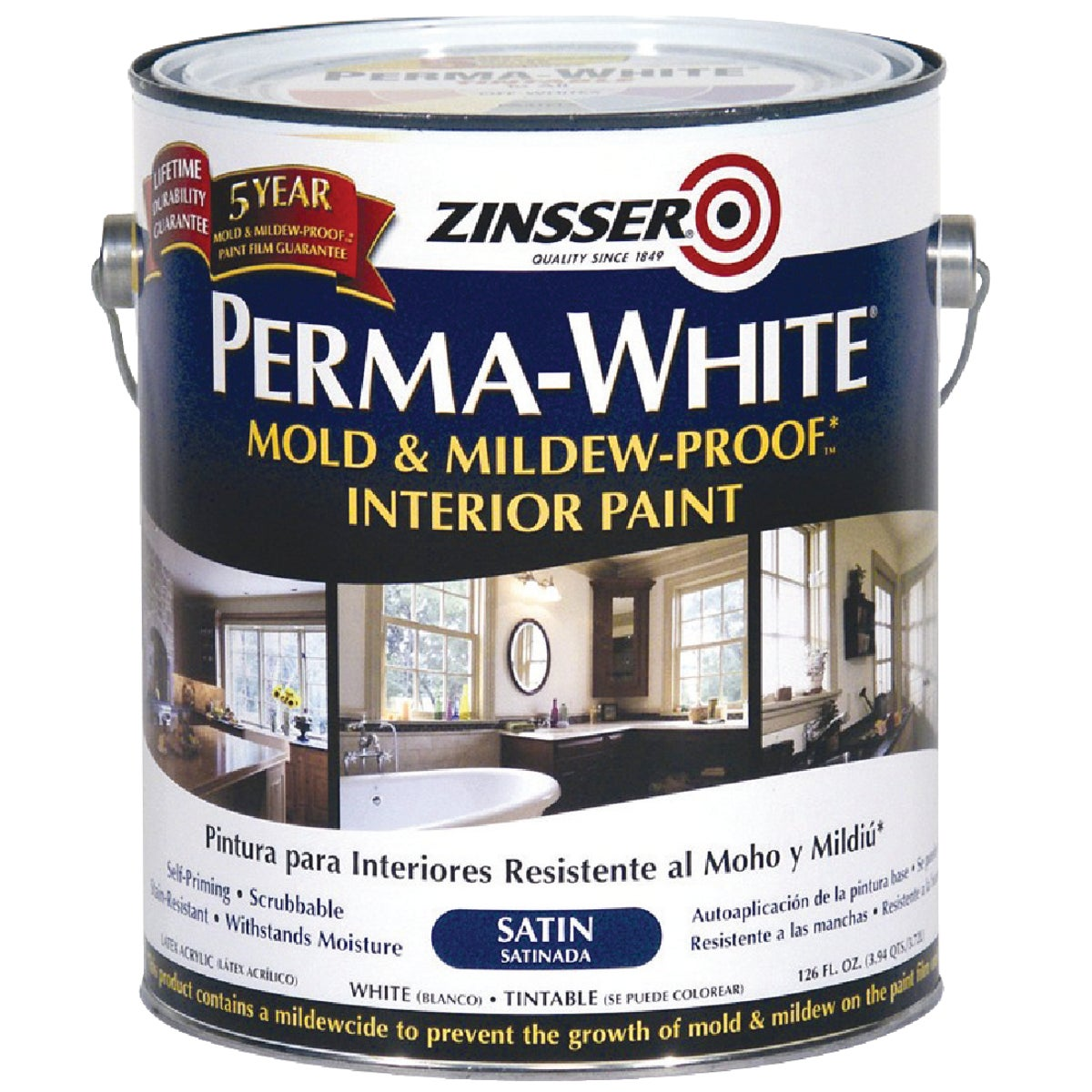 INT SAT WHT MILDEW PAINT - 2711 by Rustoleum