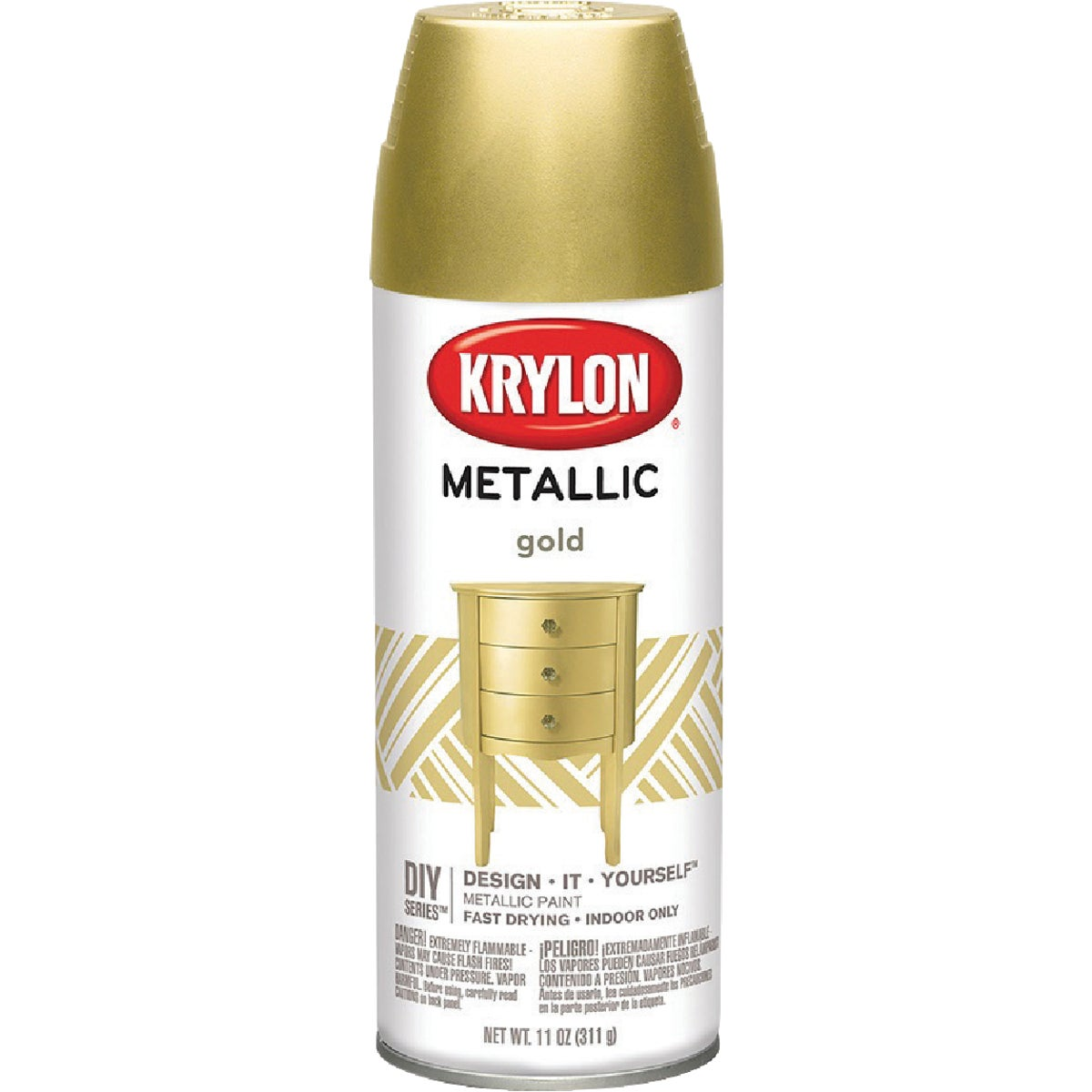 METALIC GOLD SPRAY PAINT - 1706 by Krylon/consumer Div