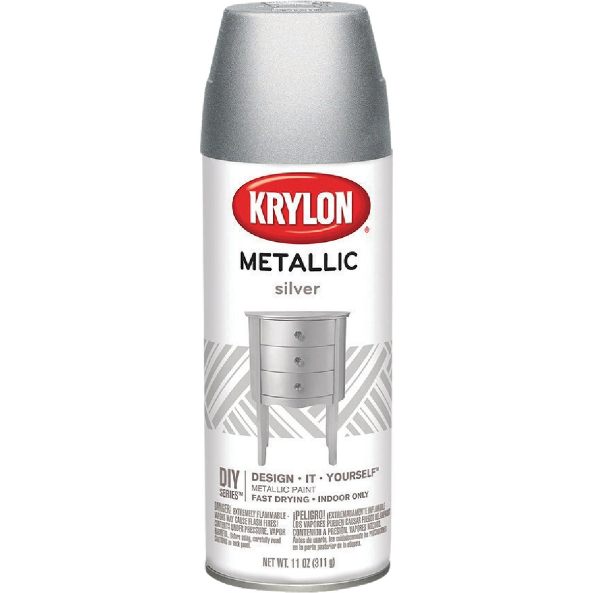METLC SILVER SPRAY PAINT - 1406 by Krylon/consumer Div