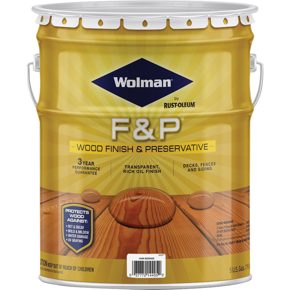 F&P REDWOOD FINISH - 14405 by Rustoleum
