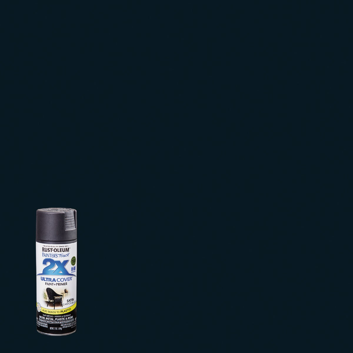 CNYN BLK SAT SPRAY PAINT - 249844 by Rustoleum