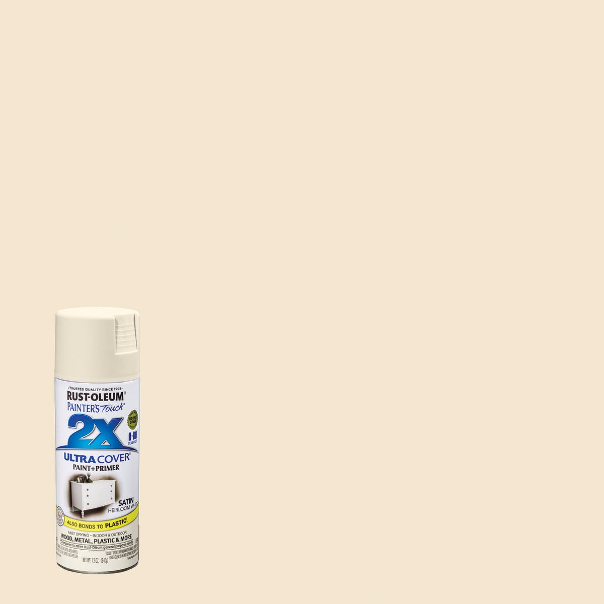 H WHT SAT SPRAY PAINT - 249076 by Rustoleum
