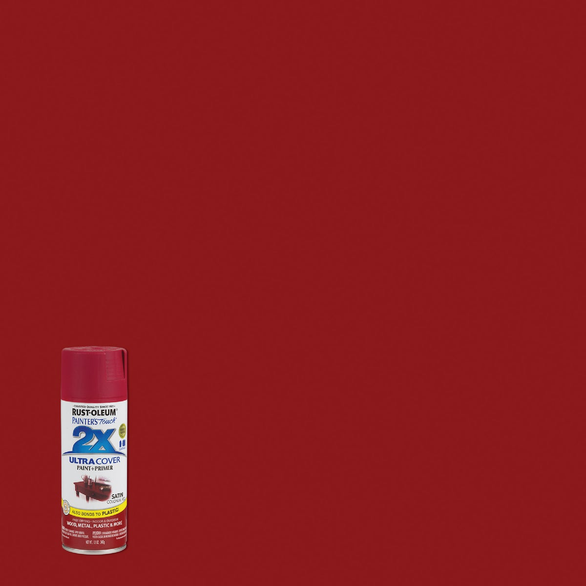 COL RED SAT SPRAY PAINT - 249082 by Rustoleum