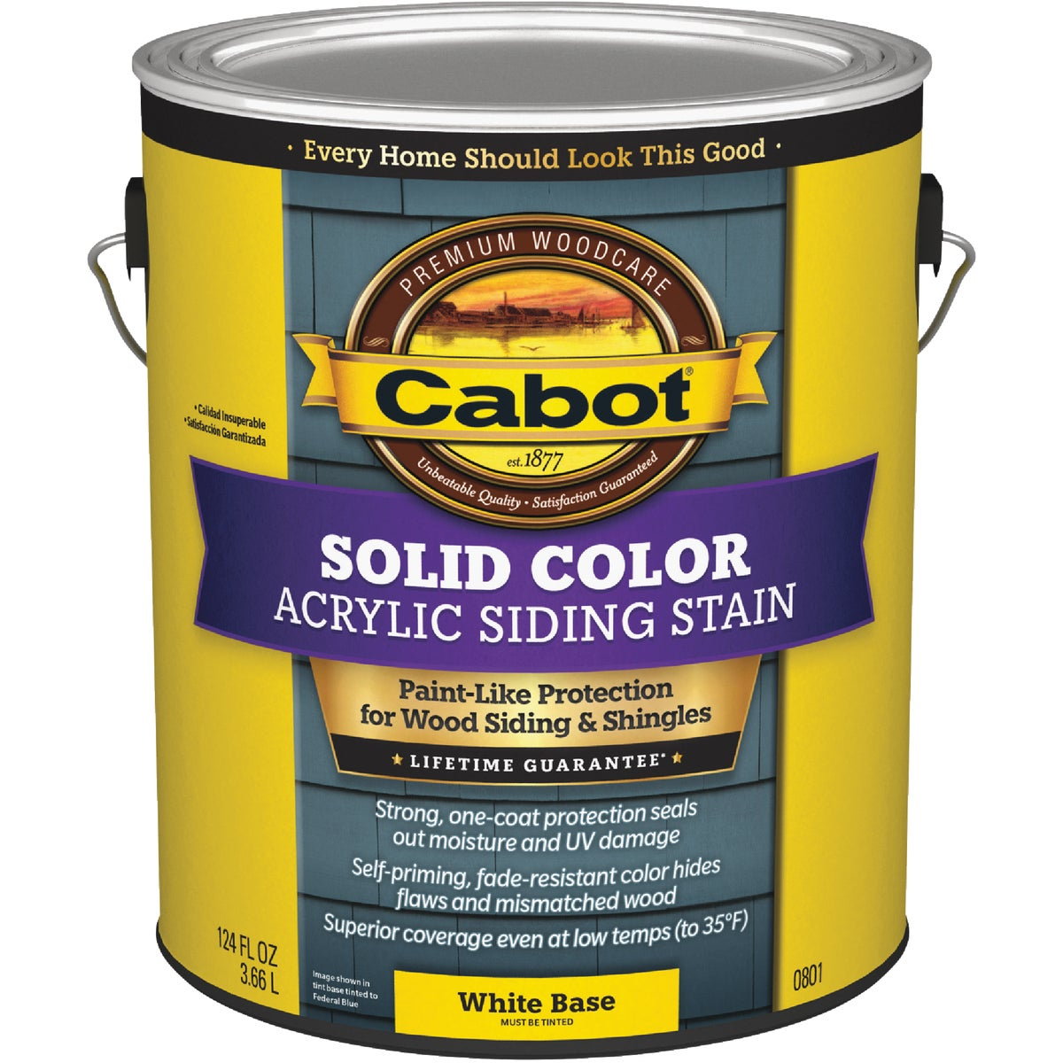 WHITE BS PRO SOLID STAIN - 140.0000801.007 by Valspar Corp