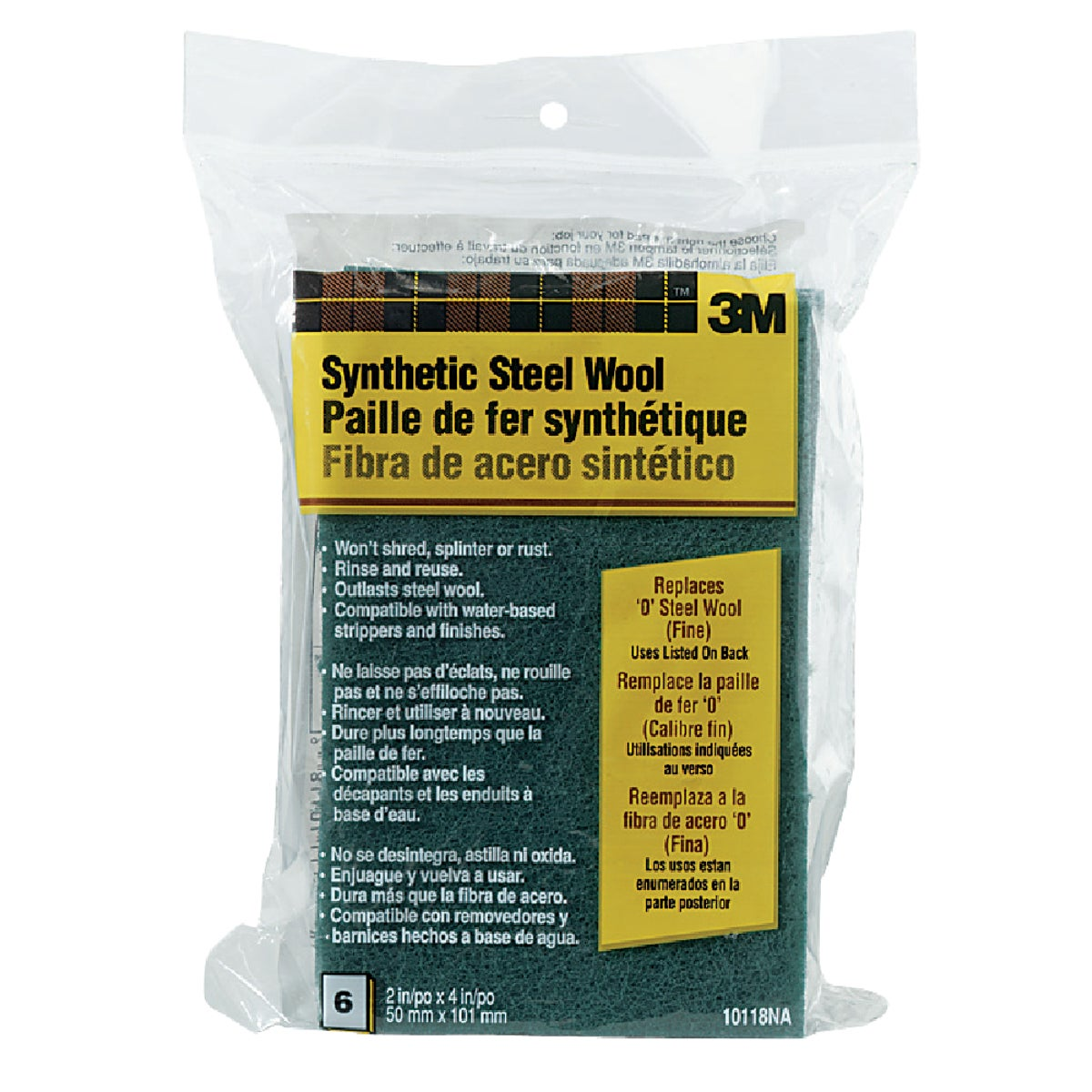 #0 SYNTHETIC STEEL WOOL - 10118NA by 3m Co