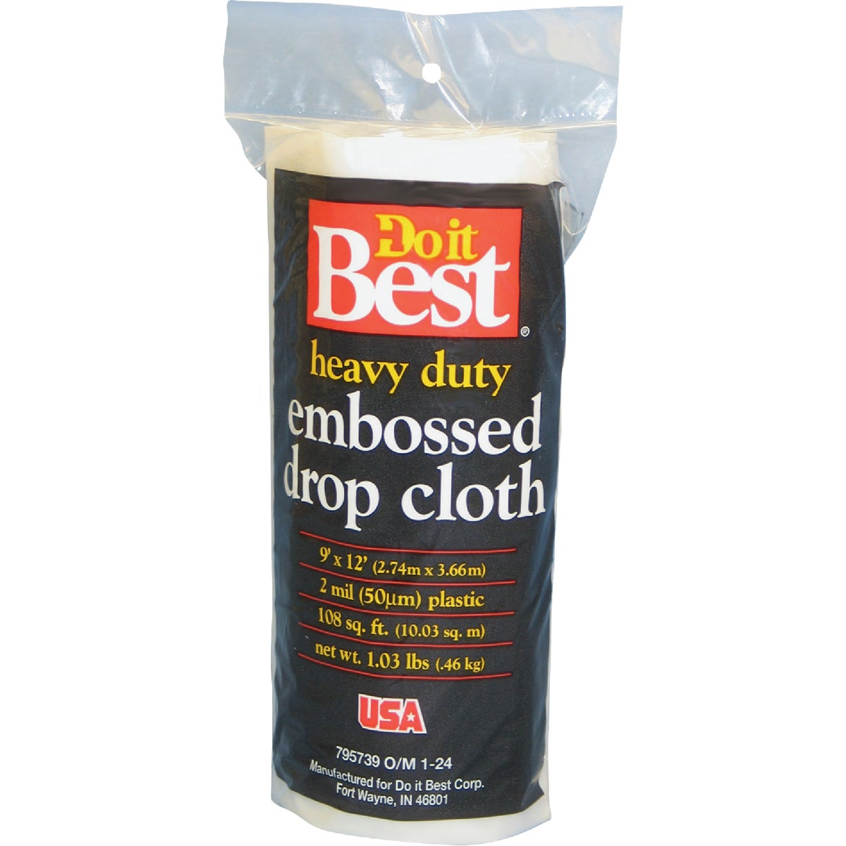 2MIL 9X12 PLS DROP CLOTH - 626233 by Berry Plastics