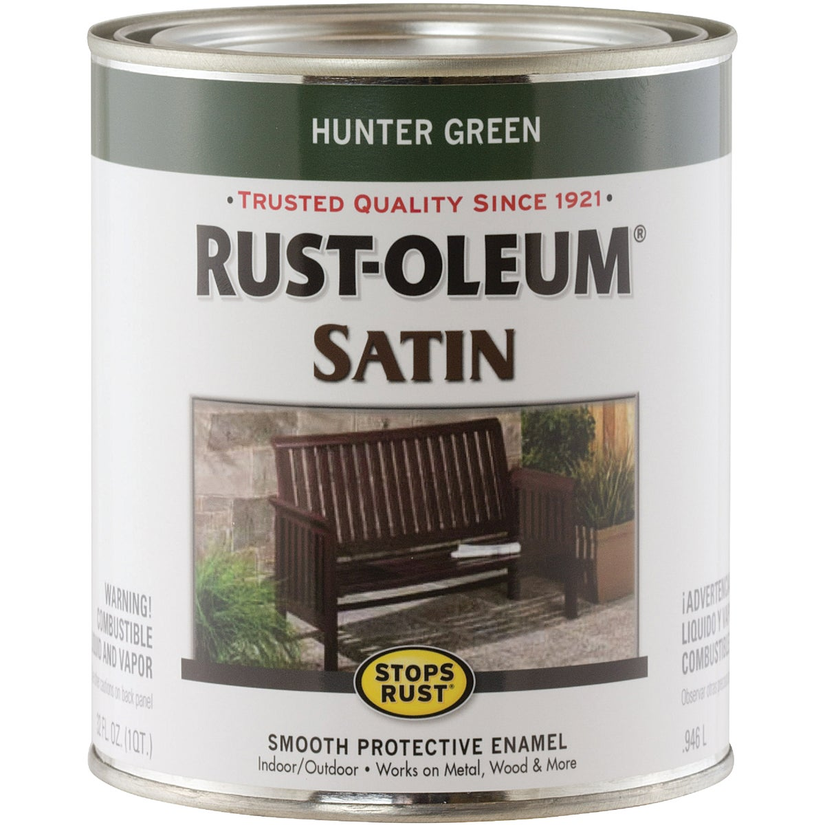 SATIN HUNTR GREEN ENAMEL - 7732502 by Rustoleum