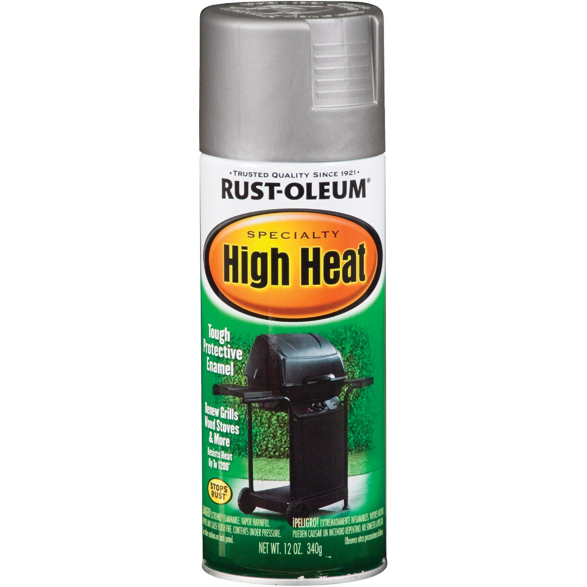SLVR HI-HEAT SPRAY PAINT - 7716-830 by Rustoleum