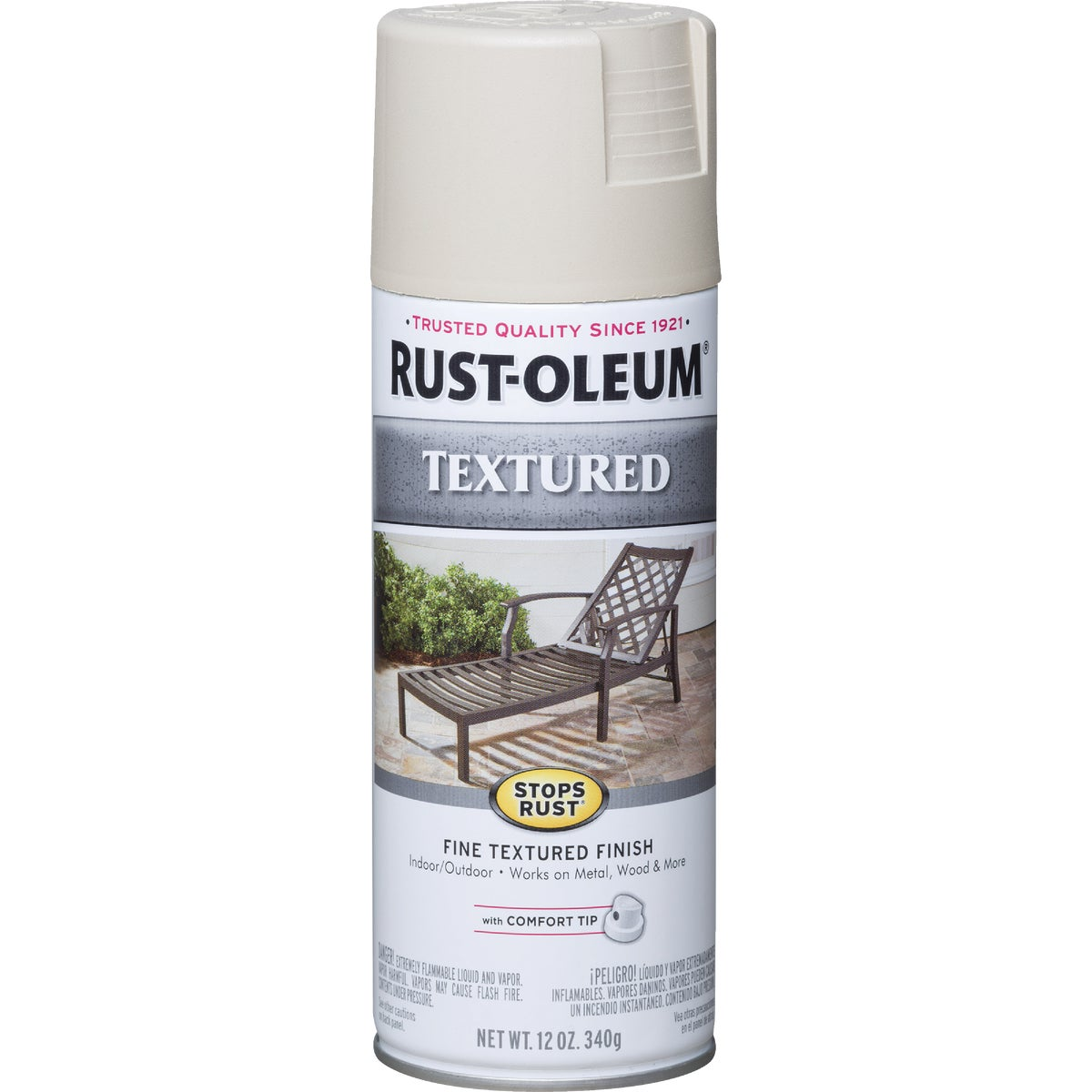 WHT TEXTURED SPRAY PAINT - 7225-830 by Rustoleum