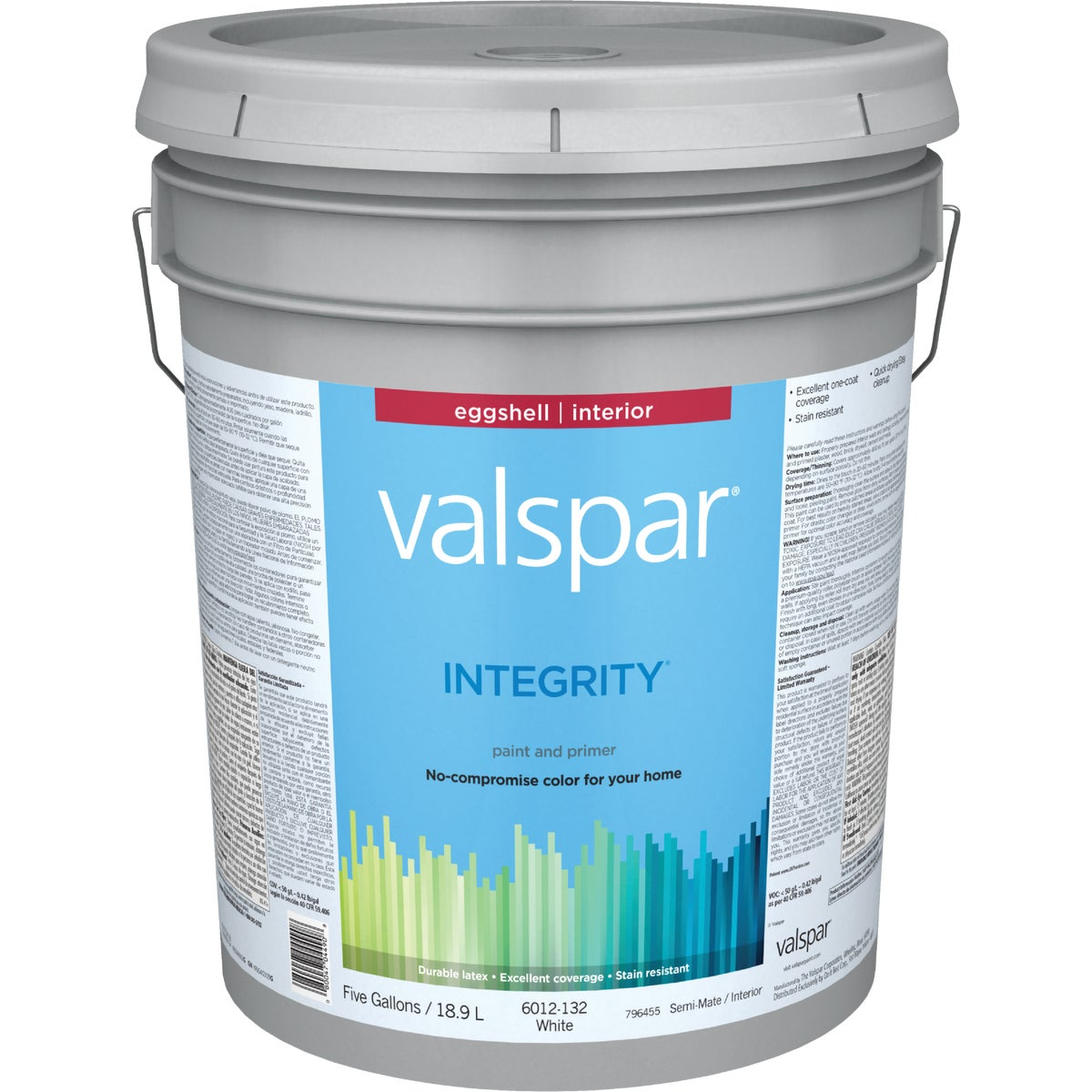 INT EGG WHITE PAINT - 004.6012132.008 by Valspar Corp
