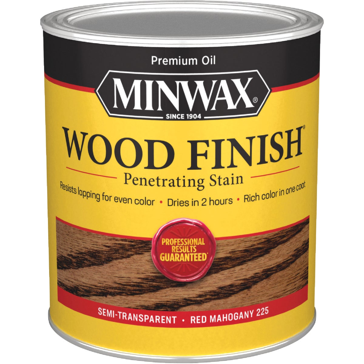 Minwax 70007 1 Quart Wood Finish Interior Wood Stain, Red Mahogany