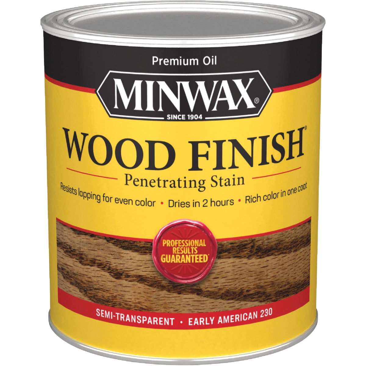 Minwax 70008 1 Quart Wood Finish Interior Wood Stain, Early American