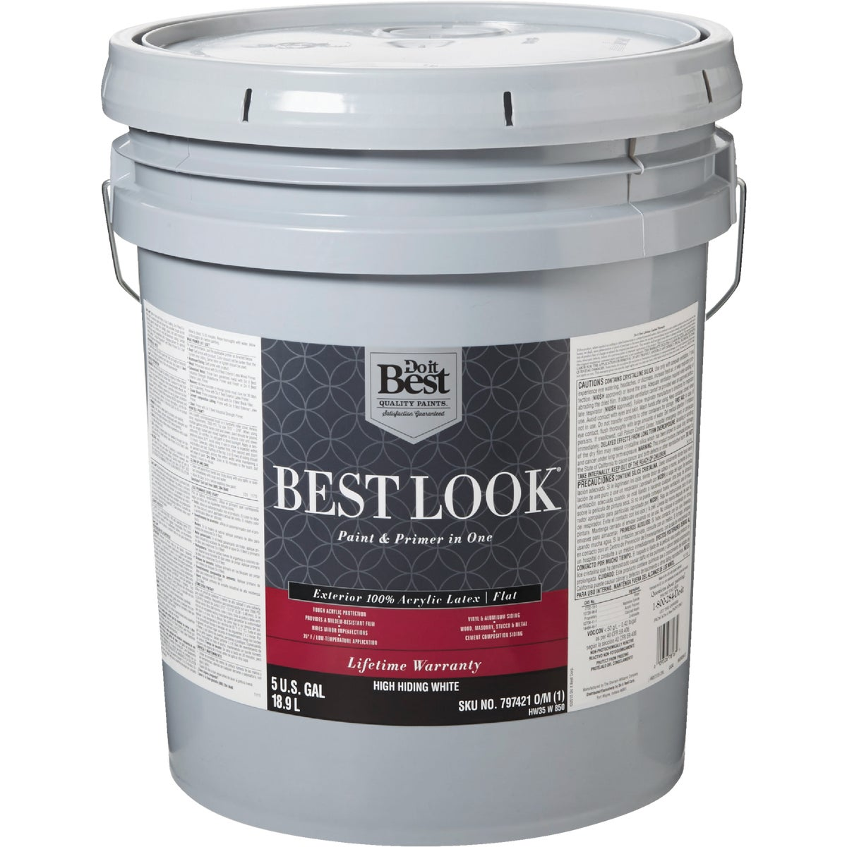 EXT FLT H HIDE WHT PAINT - HW35W0850-20 by Do it Best