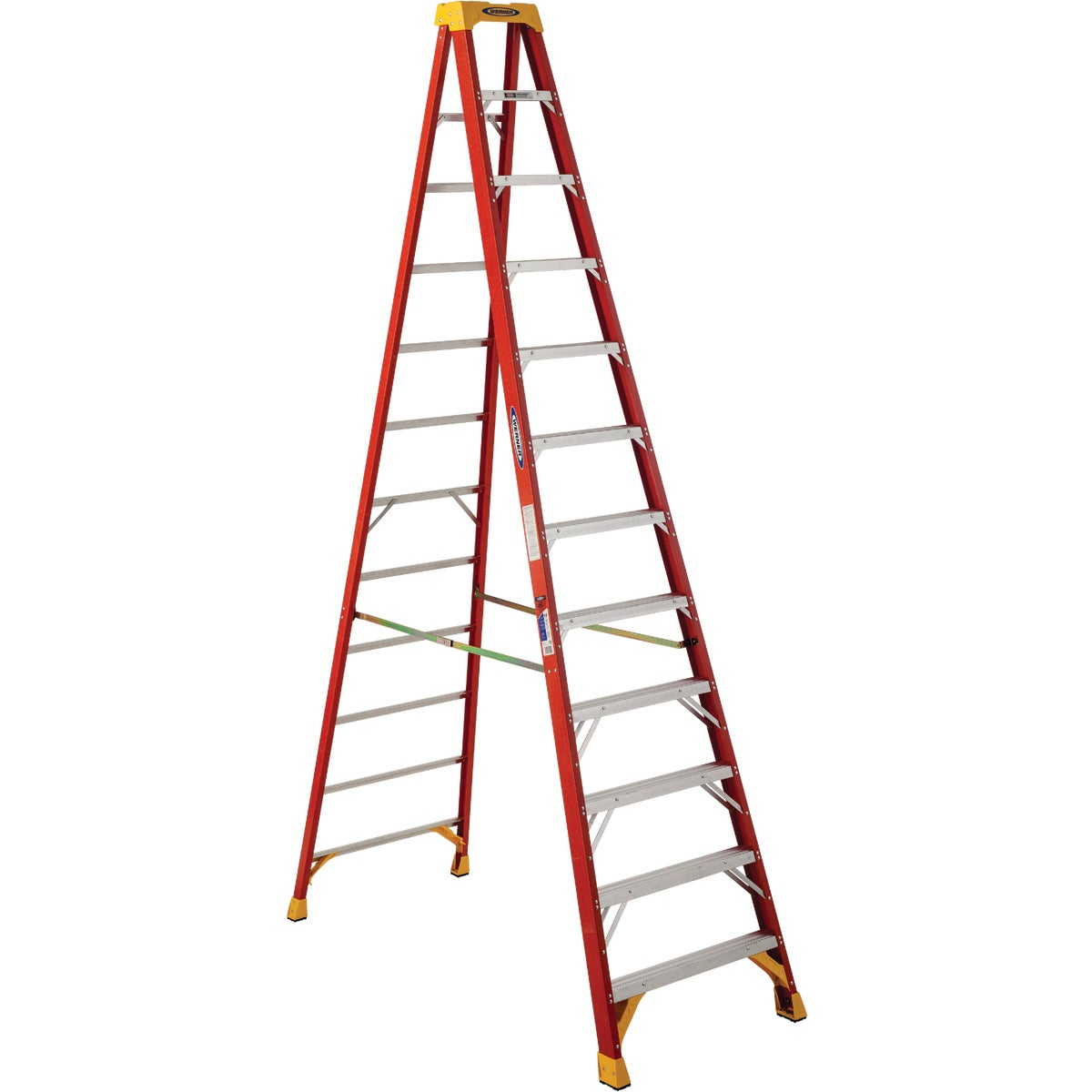 T-1A 12' FBGL STEPLADDER - 6212 by Werner Ladder