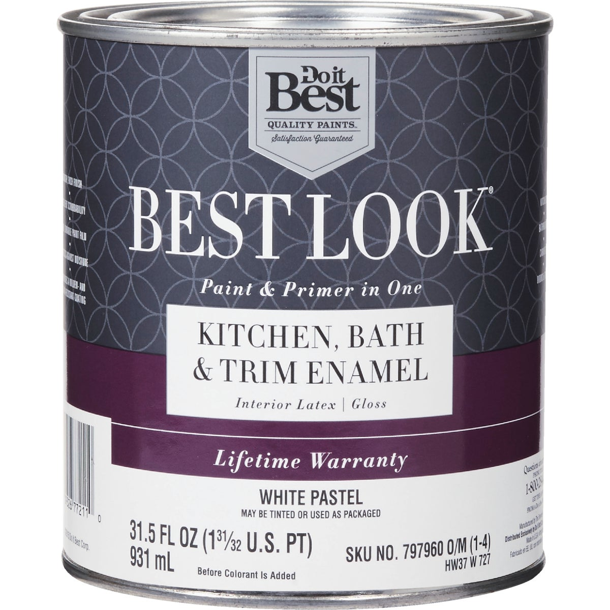 GLS WHT/PASTL BATH PAINT - HW37W0727-14 by Do it Best
