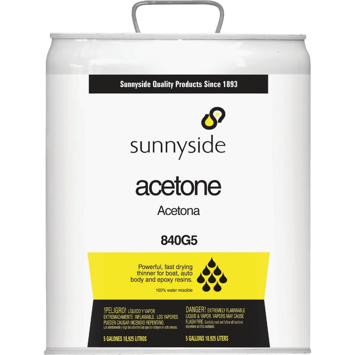 5GAL ACETONE - 840G5 by Sunnyside Corp