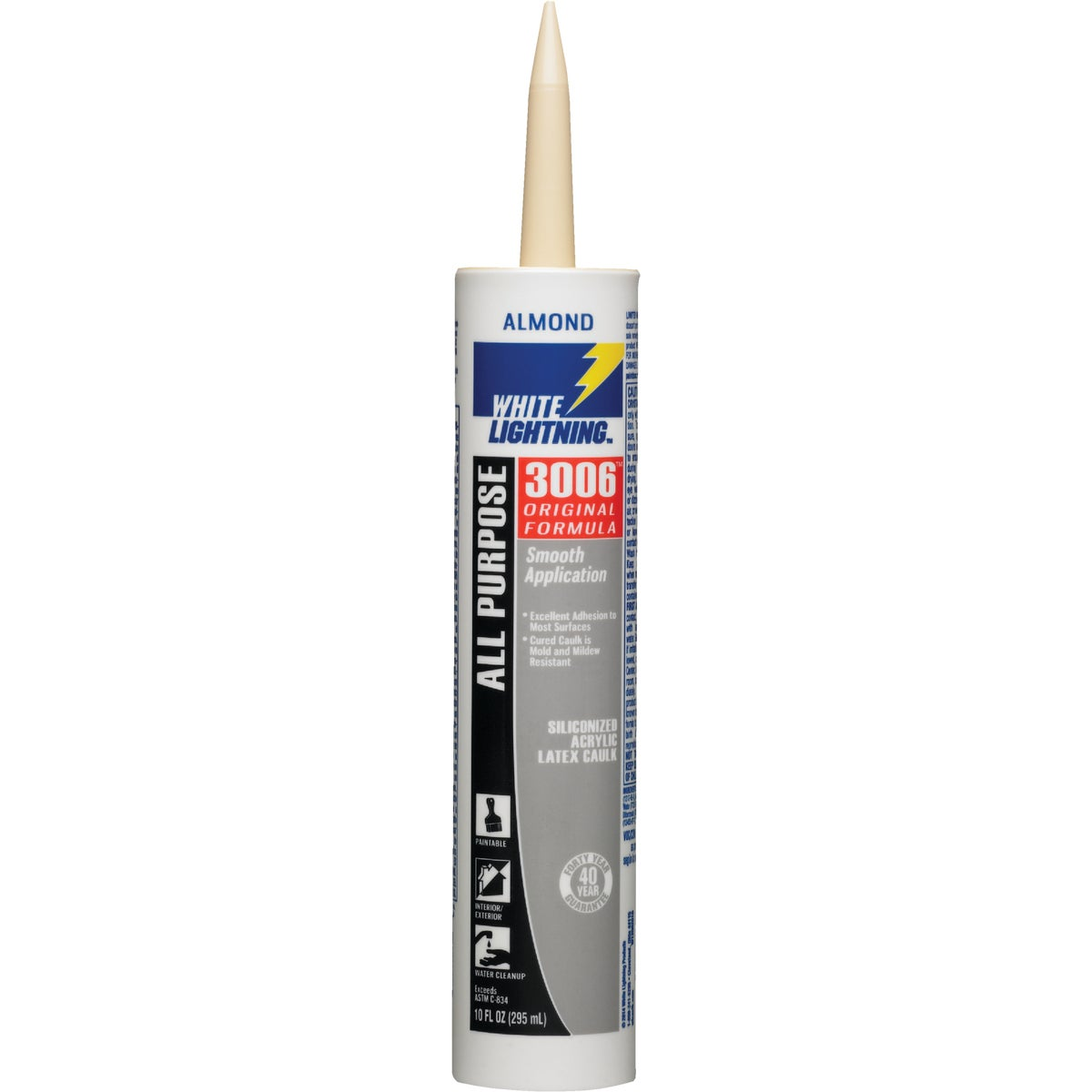 10OZ ALMOND LATEX CAULK - 01010 by White Lightning Prod