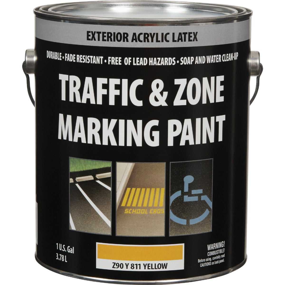 YEL LATEX TRAFFIC PAINT - Z90Y00811-16 by Do it Best