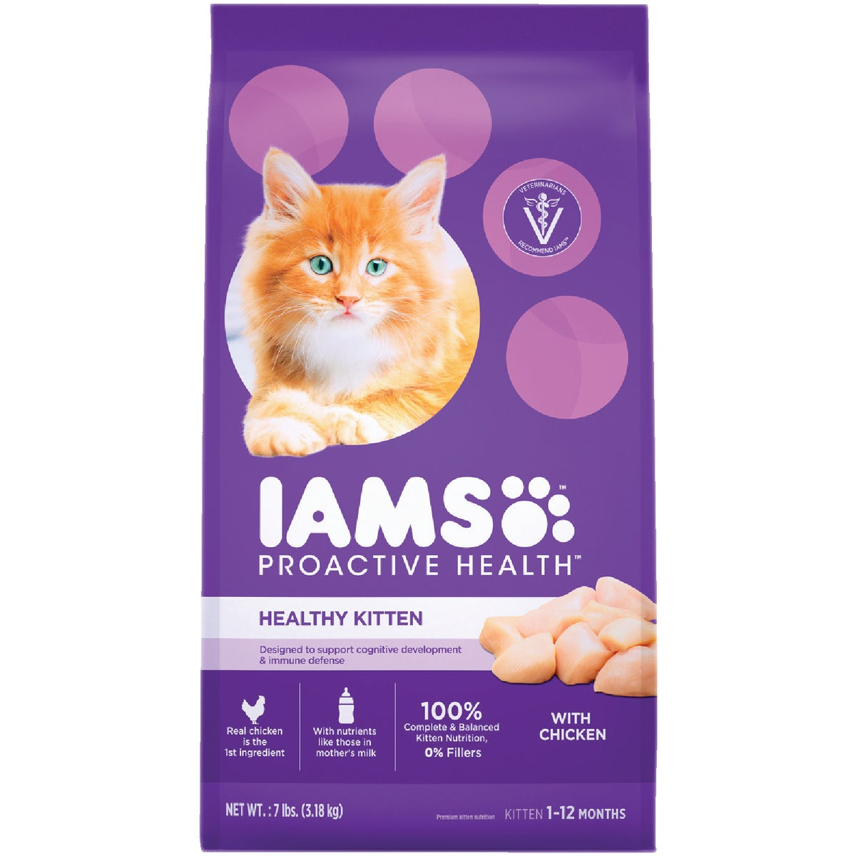5.7LB IAMS KITTEN FOOD - 12505 by Wolverton Iams