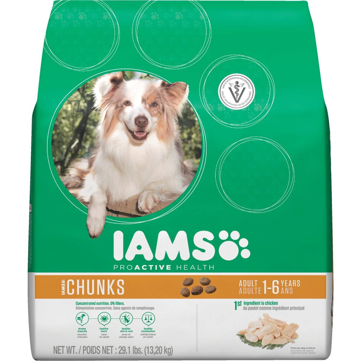 29.1LB CHUNK DOG FOOD - 11140 by Wolverton Iams