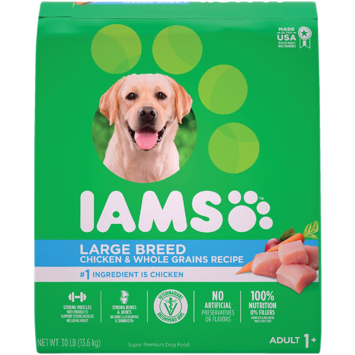 30LB LRG BRD ADULT FOOD - 00721 by Wolverton Iams