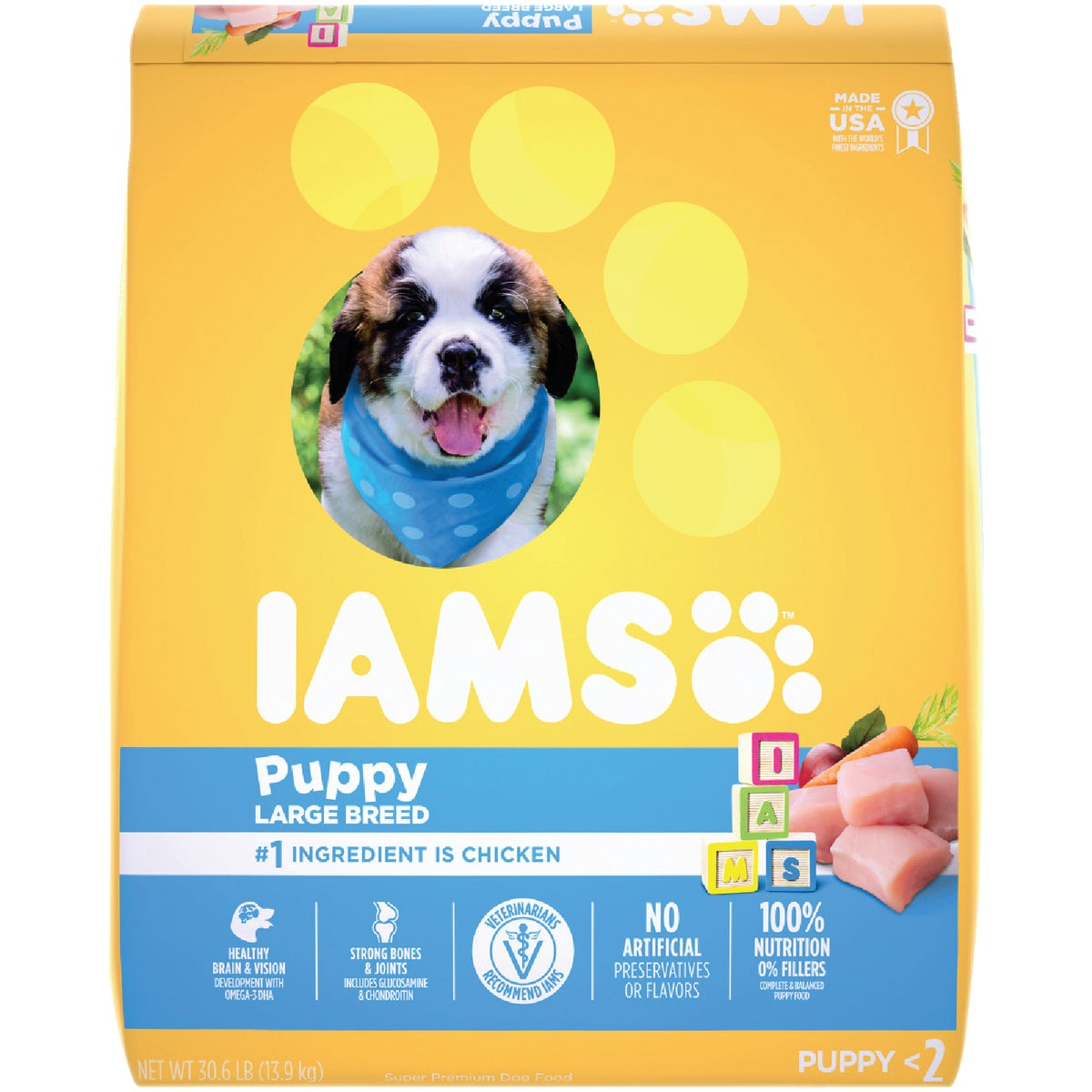 30.6LB LG BRD PUPPY FOOD - 00738 by Wolverton Iams