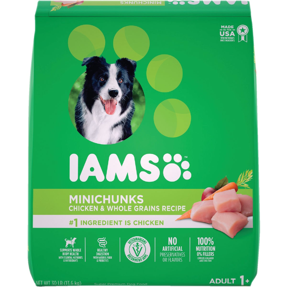 30LB MINICHUNK DOG FOOD - 00714 by Wolverton Iams