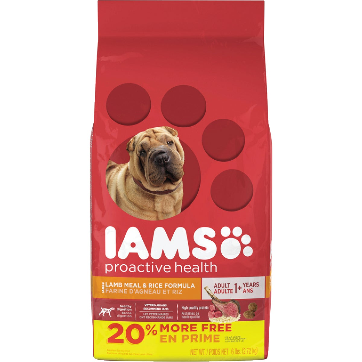 6.1LB LAMB/RICE DOG FOOD - 37339 by Wolverton Iams