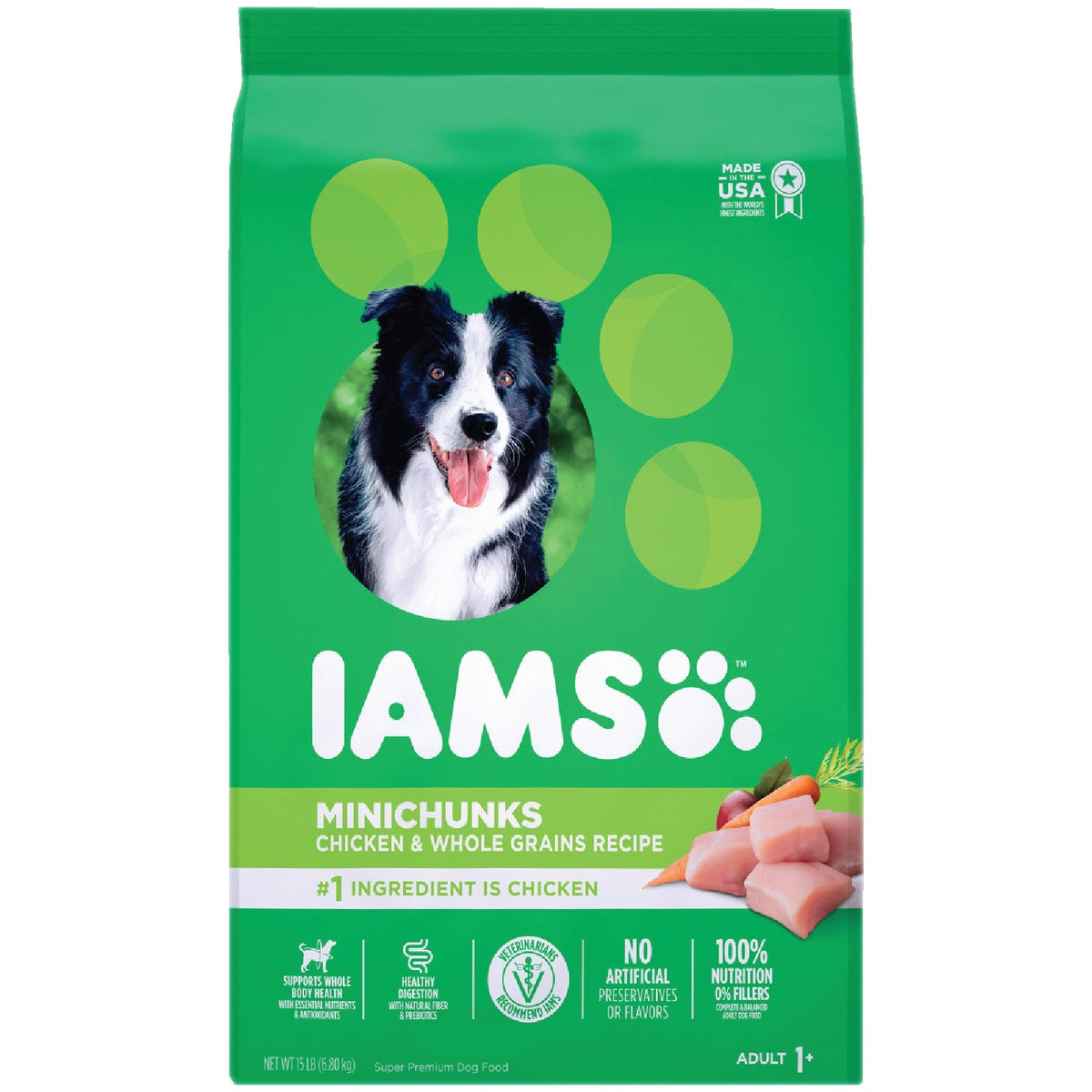 15LB MINICHUNK DOG FOOD - 10907 by Wolverton Iams