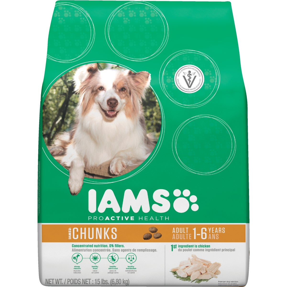 15LB CHUNK DOG FOOD - 10815 by Wolverton Iams