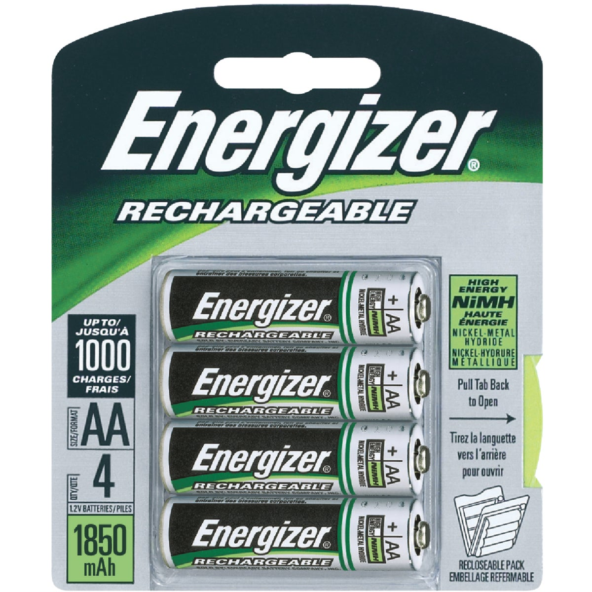 4CD AA RECHARGE BATTERY - NH15BP4 by Energizer