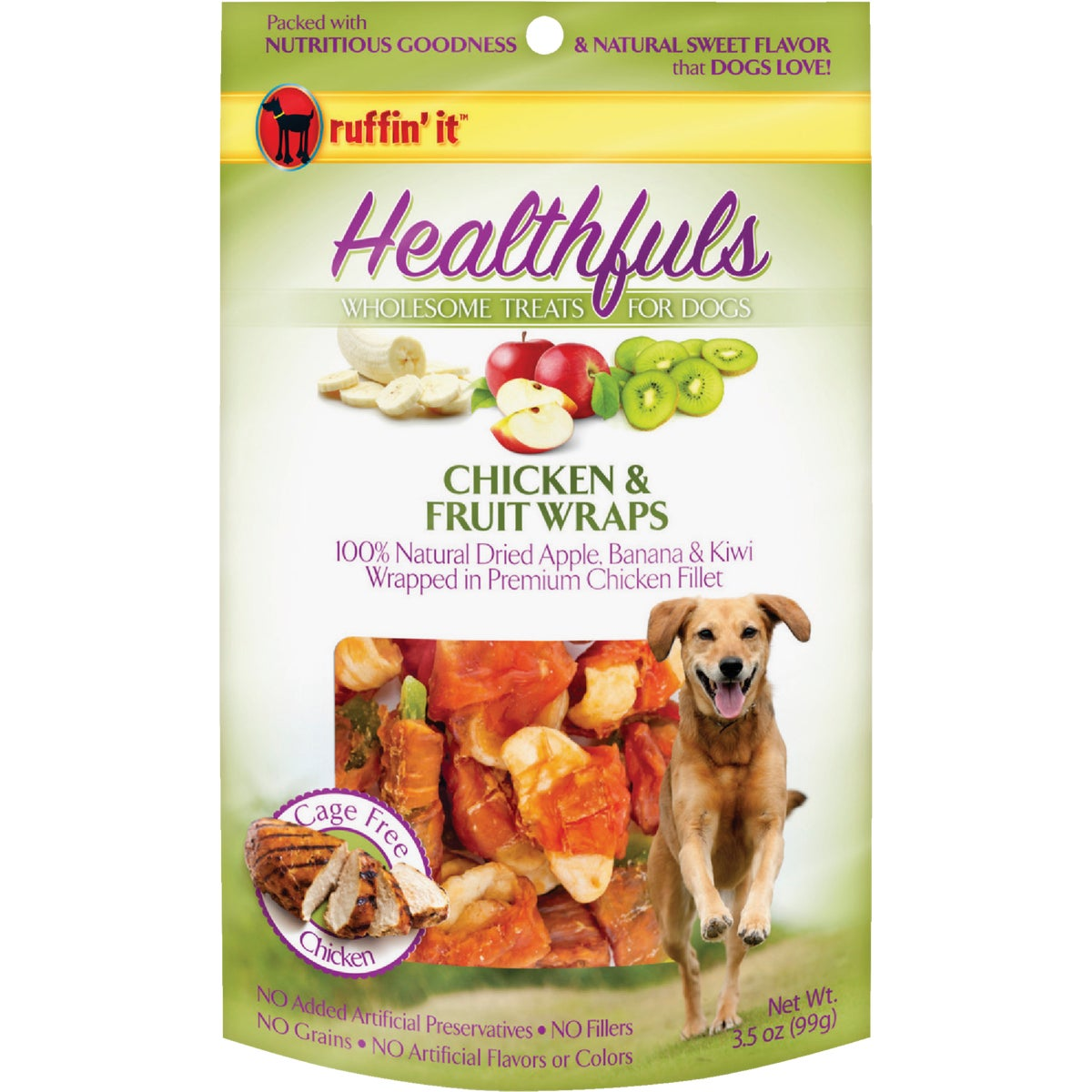3.5OZ CHKN/FRUT DOG WRAP - 08302 by Westminster Pet