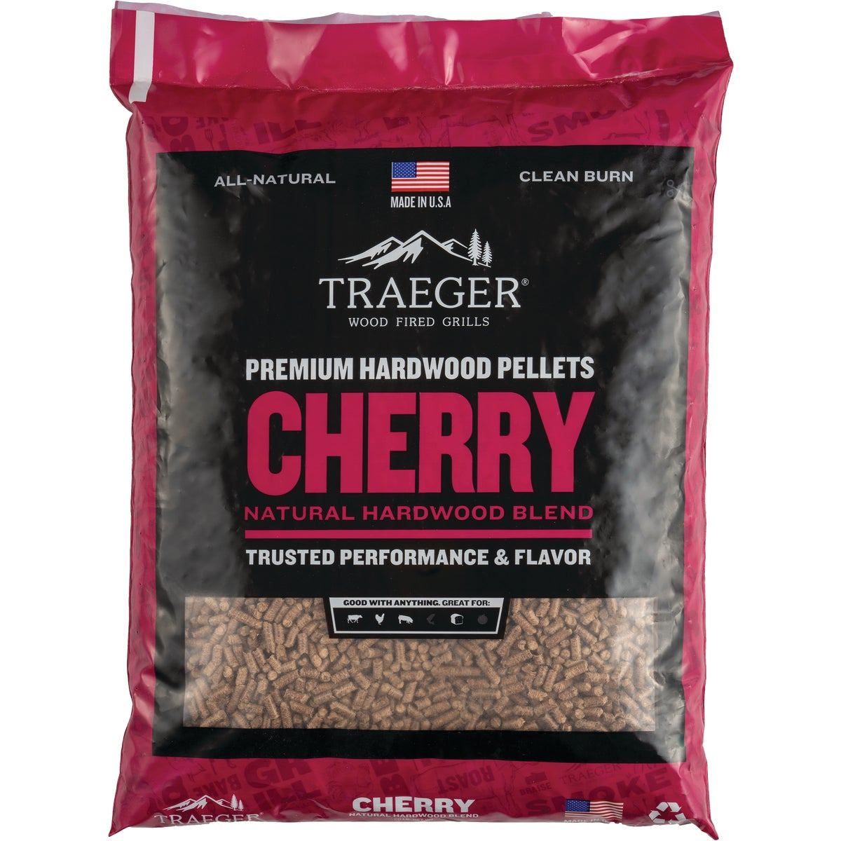 CHERRY BARBEQUE PELLETS - PEL309 by Traeger Industries