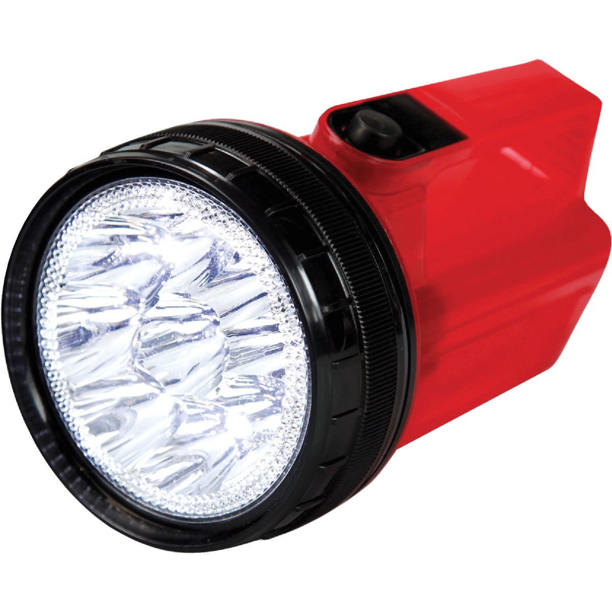 Life Gear 4 in 1 Glow LED Spotlight with Storage, Red/Red