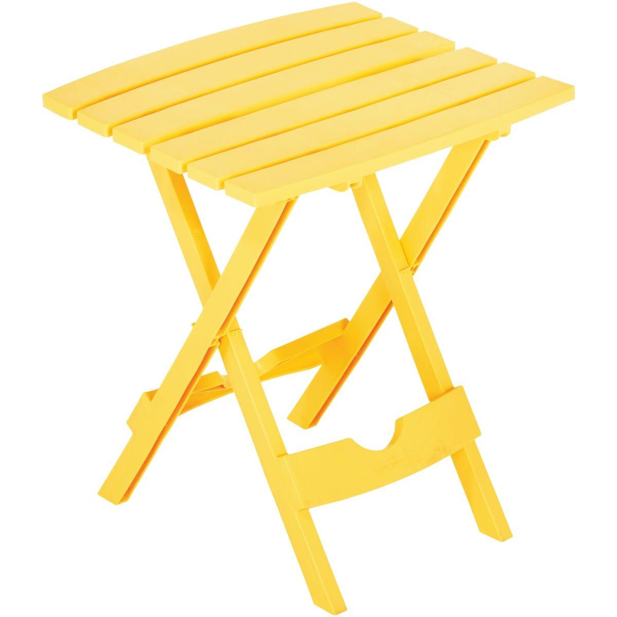 YELLOW QK FOLD TABLE - 8500-19-4748 by Adams Mfg Patio Furn