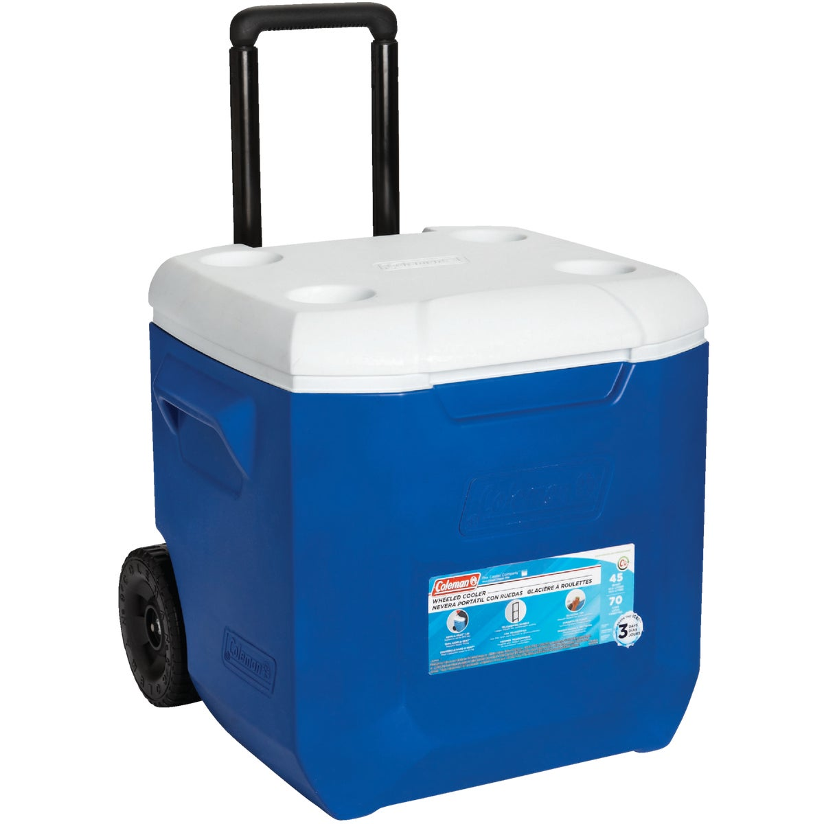 45QT WHLD BLU/WHT COOLER - 3000002455 by Coleman