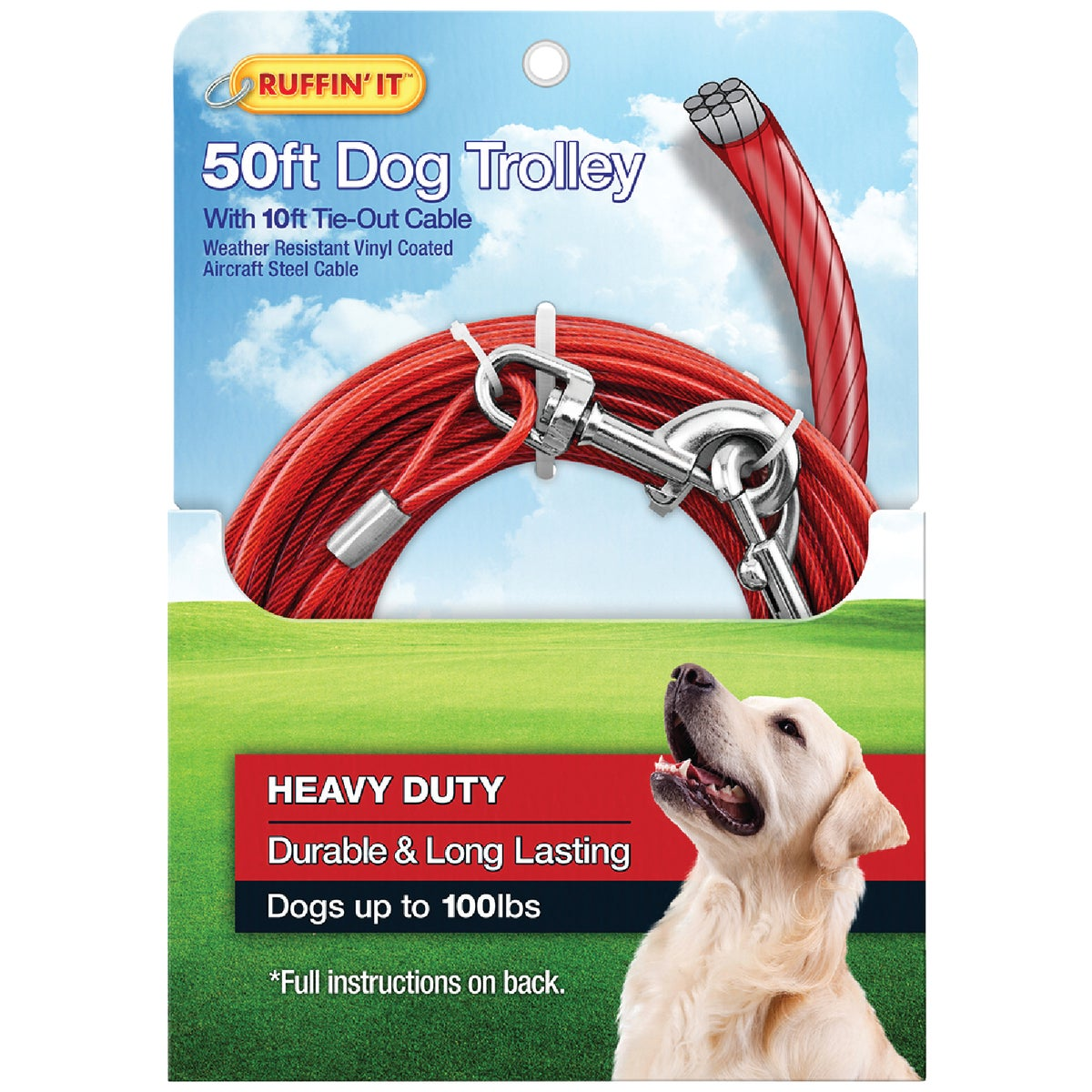 Westminster Pet 50'TIE-OUT CABLE TROLLEY 29450