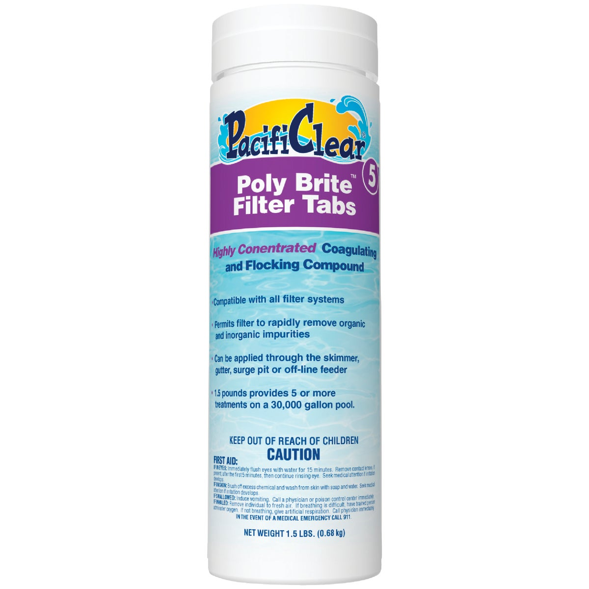POLY-BRITE FILTER TABS