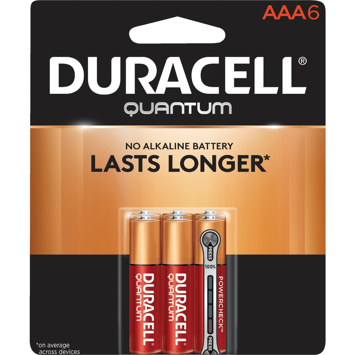 QUANTUM AAA 6 PK - 66252 by P & G  Duracell
