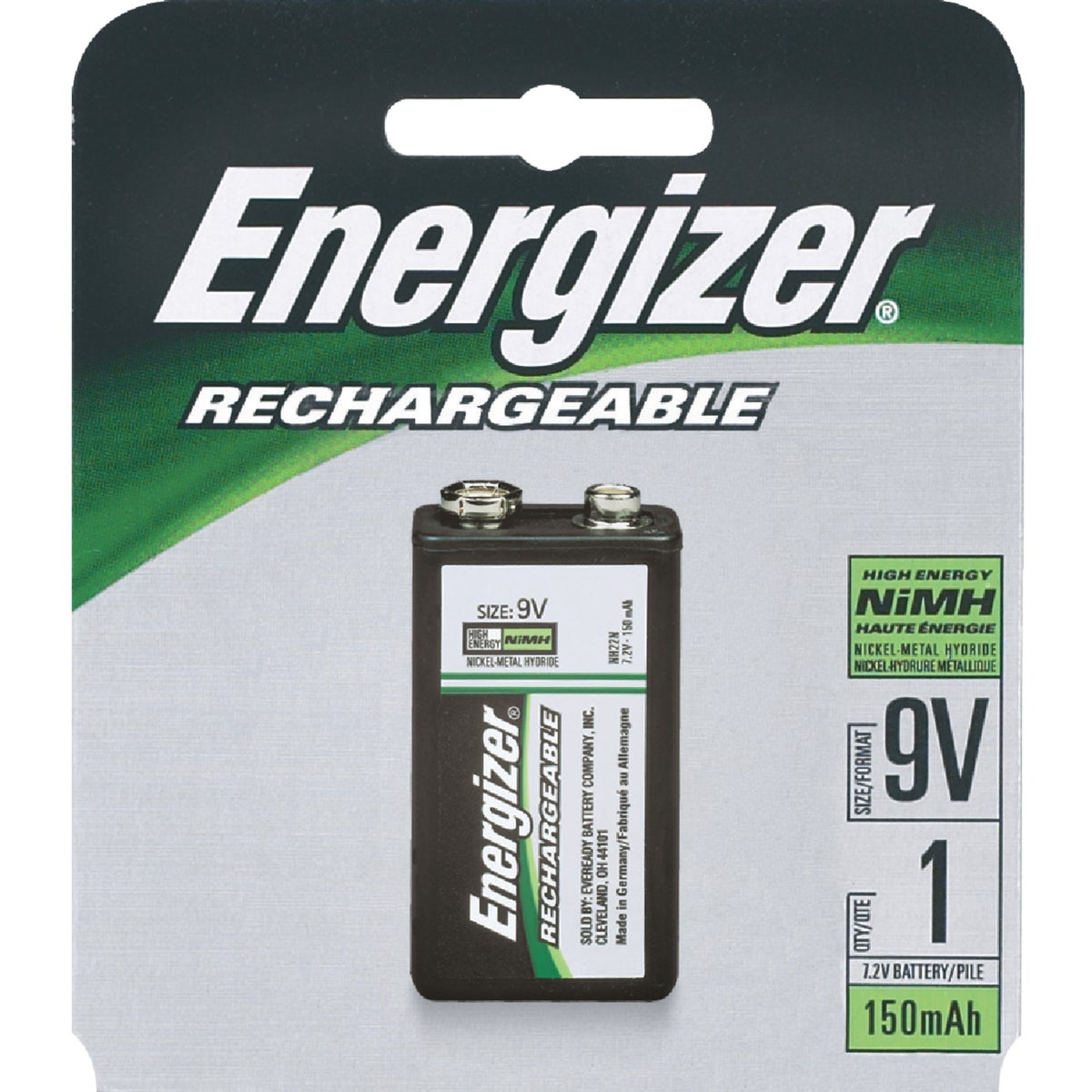 9V RECHARGEABLE BATTERY - NH22NBP by Energizer