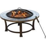 Outdoor Expressions 34 In. Slate Fire Pit