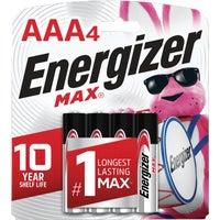 Energizer Max AAA Alkaline Battery, E92BP-4