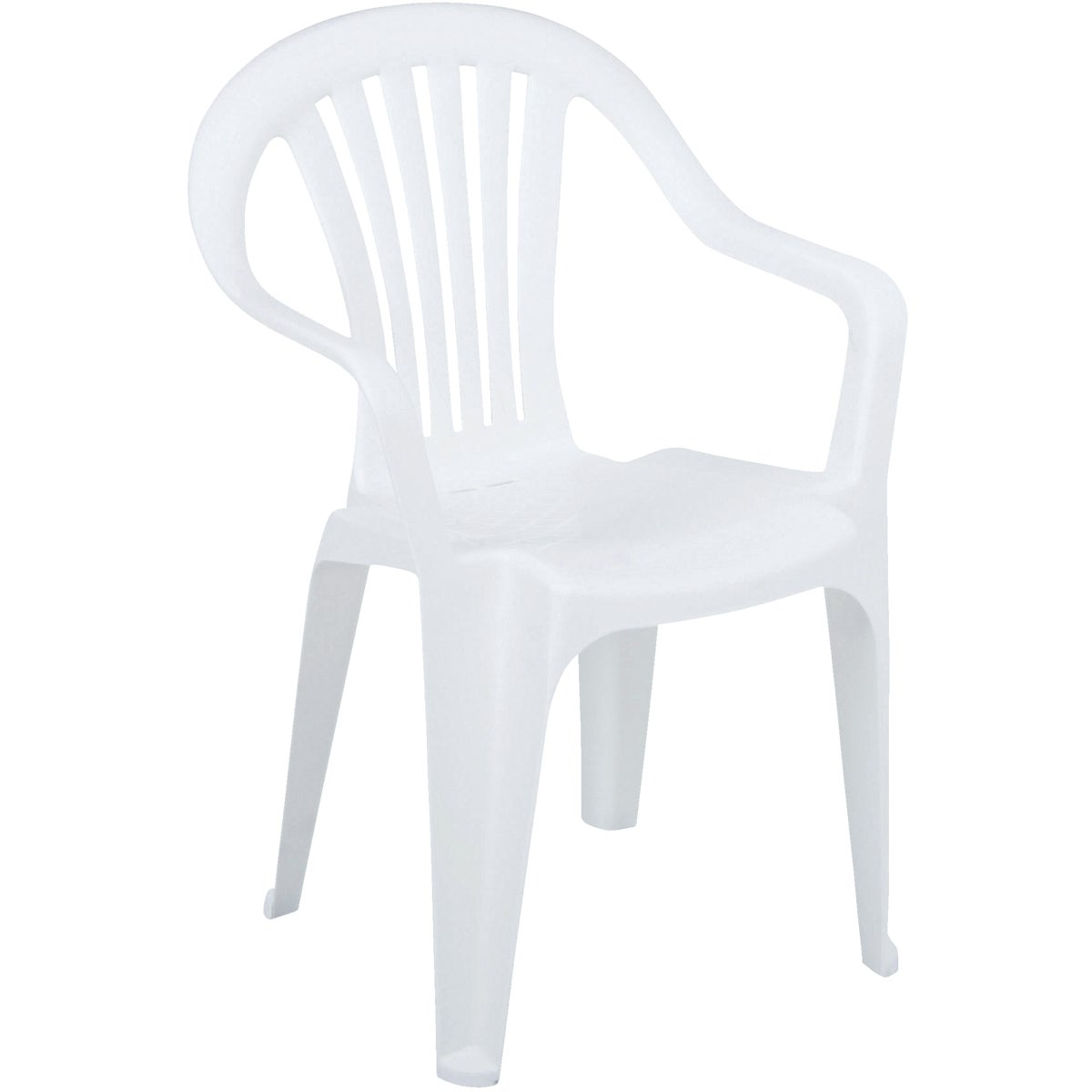 WHITE LOW BACK CHAIR