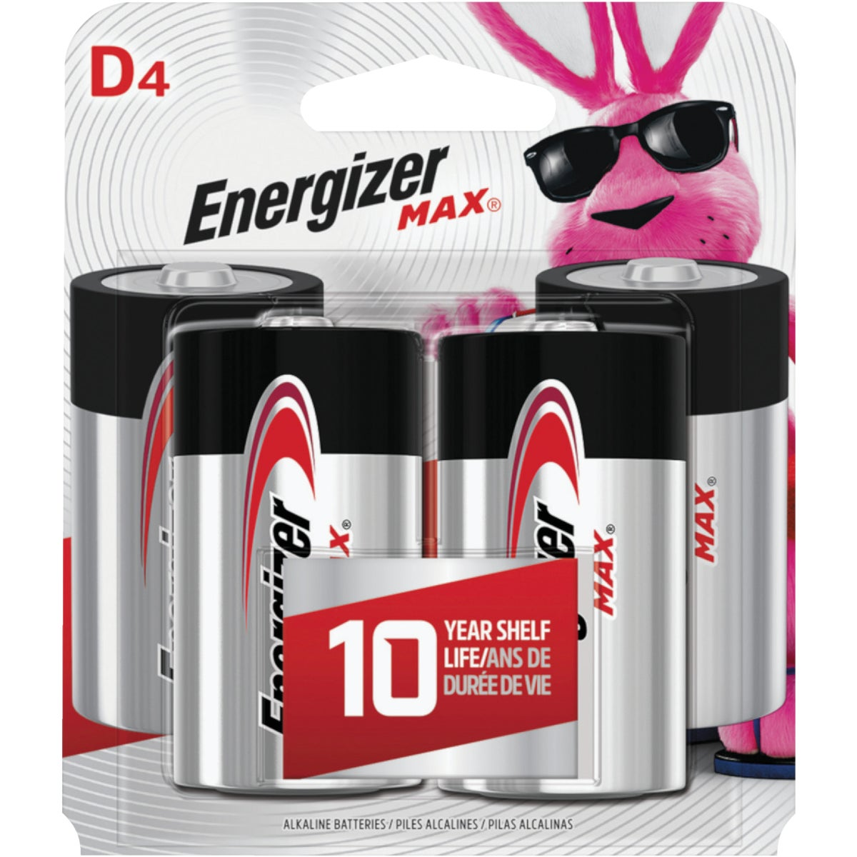 4CD D ALKALINE BATTERY - E95BP-4 by Energizer