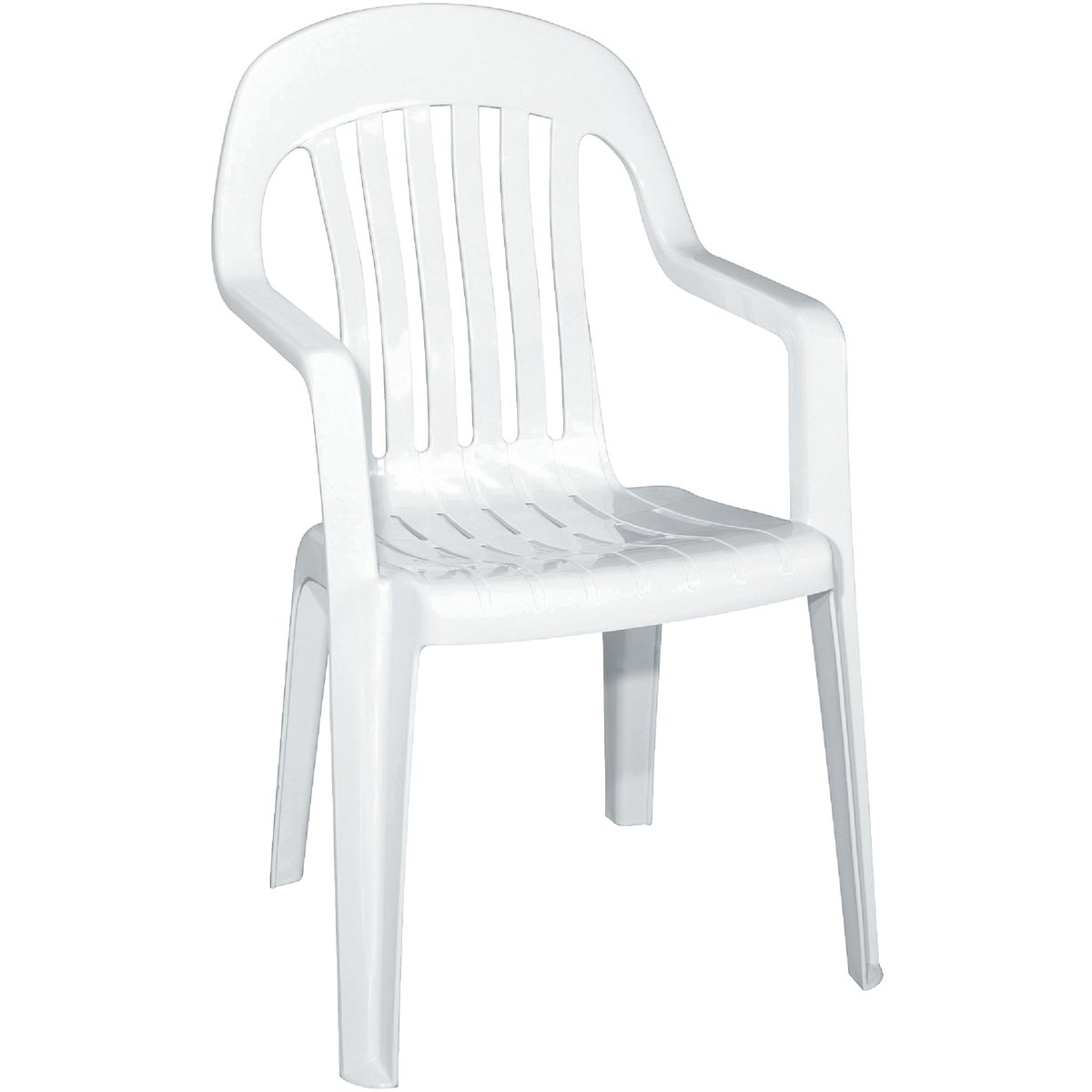 WHITE HIGH BACK CHAIR - 8254-48-3700 by Adams Mfg Patio Furn