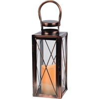 Gerson Metal Flameless LED Lantern, 42024