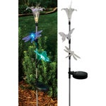Solaris Solar Flower/Insect Trio Stake Light Lawn Ornament